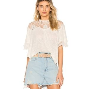 Free People Cape Mae tee in ivory